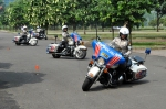 Indonesian women police on Harleys