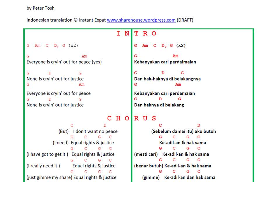 """Ini translation lengkap yg DRAFT dari aku untuk lirik lagu """"Equal"""