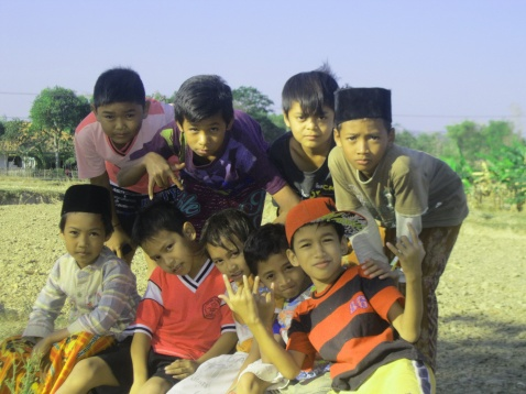 Village boys in Blega, Madura