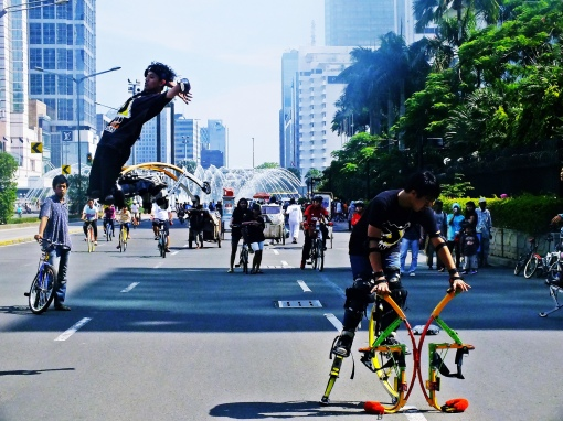 Photo of Car free day in Jakarta by daiax at Flickr
